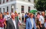 Die drei Bürgermeister Leo Meier, Gerhard Martin und Hans Hafner, Hintergrund MdB Fr.Fograscher,  LR S. Rössle und MdL W. Fackler