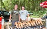 Gegrillte Makrelen für uns zubereitet von Earl Moss und Stefan Graf