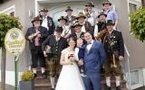 Hochzeitsböllern für unseren Böllerkameraden Andi Wagner uns seine Frau Claudia