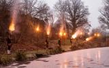 Neujahrsböllern am Schloßweiher
